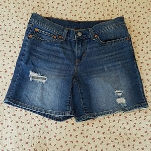 Levi's Distressed Design  Shorts